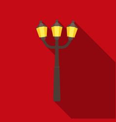 street light icon in flat style isolated on white vector image