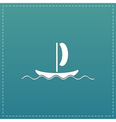 yachts flat icon vector image