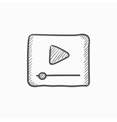Video player sketch icon vector