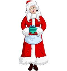 Mrs Santa Claus vector image
