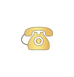 Old telephone computer symbol vector