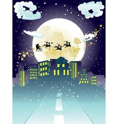 Santa Claus Coming to City5 vector image