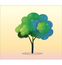 A big green tree vector