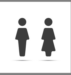 grey wc icon toilet vector image