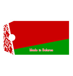 Belarus flag on price tag with vector