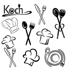 Cook gastronomy food vector