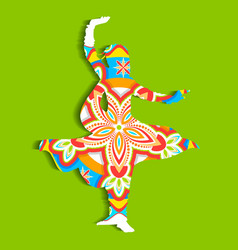Indian classical Dancer vector image