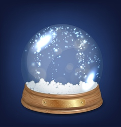 Empty snowglobe vector