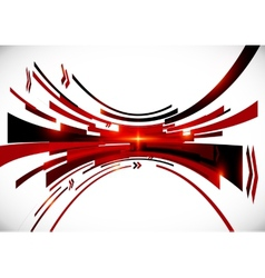 Abstract black and red perspective background vector image