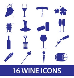 Wine icon set eps10 vector