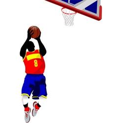 al 0714 basketball 01 vector image