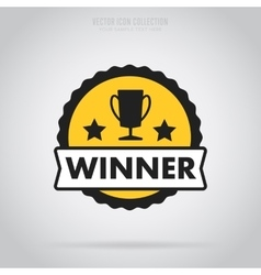 Winner isolated badge label or sticker vector