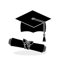 University design graduation and education vector