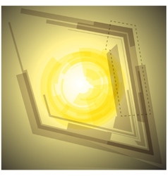 Abstract yellow background with light vector image