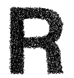 Alphabet r vector