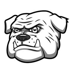 Angry bulldog 2 vector