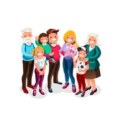 Baby big family portrait vector