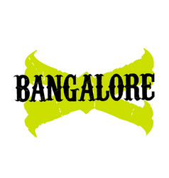 Bangalore sticker stamp vector