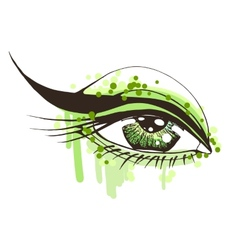 Beautiful woman eye vector