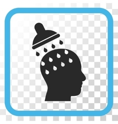 Brain washing icon in a frame vector