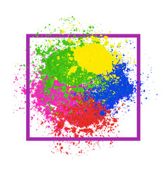 bright colorful banner with powder splashes vector image vector image