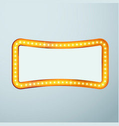 bright glittering retro cinema bulb frame sign vector image