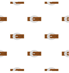 Brown elegant leather belt with buckle pattern vector