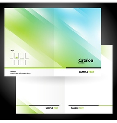 catalog booklet folder brochure colorful design vector image vector image