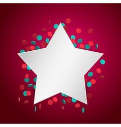 celebration star2 vector image vector image