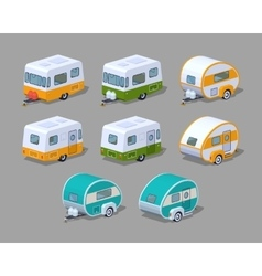 Collection of the motorhomes vector image vector image