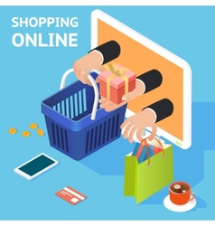 E-commerce or online shopping concept vector image vector image