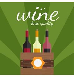 flat design of wine theme vector image vector image