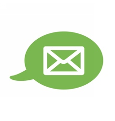 Flat icon with a bubble and a message sms vector