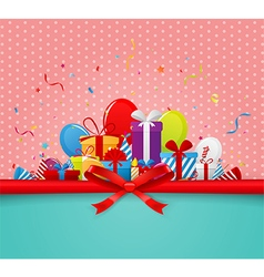 Happy Birthday greetings card vector image vector image