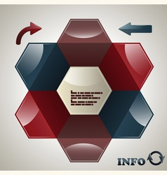 hexagon infographic template vector image vector image
