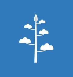 Icon simple tree vector
