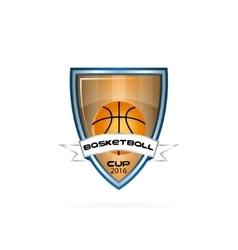 logo for a basketball team or a league vector image vector image