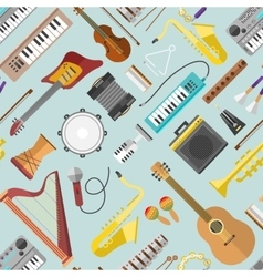Music pattern vector image vector image