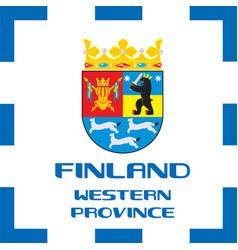 National ensigns flag and emblem of finland - vector