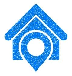 Realty location grainy texture icon vector