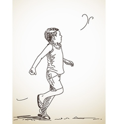 running child vector image