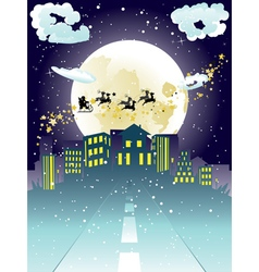 Santa claus coming to city5 vector