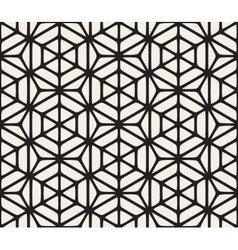 Seamless black and white geometric hexagon vector