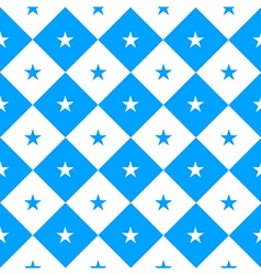 Star Blue White Chess Board Diamond Background vector image vector image