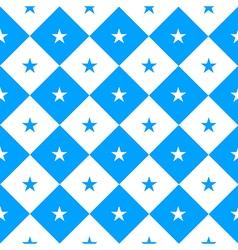Star blue white chess board diamond background vector