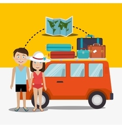 Summer travel and vacation vector image