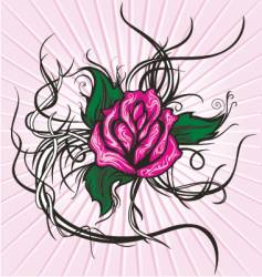 tattoo tribal rose vector image vector image