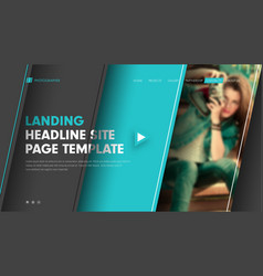 template header site vector image vector image