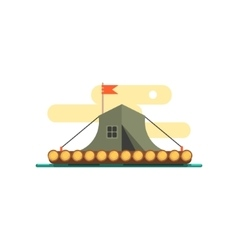 Tent On The Raft Water vector image