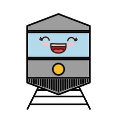 Train vehicle icon vector